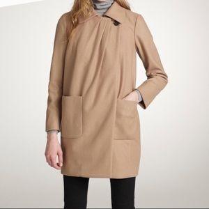 J Crew Wool Cashmere by Nello Gori camel coat